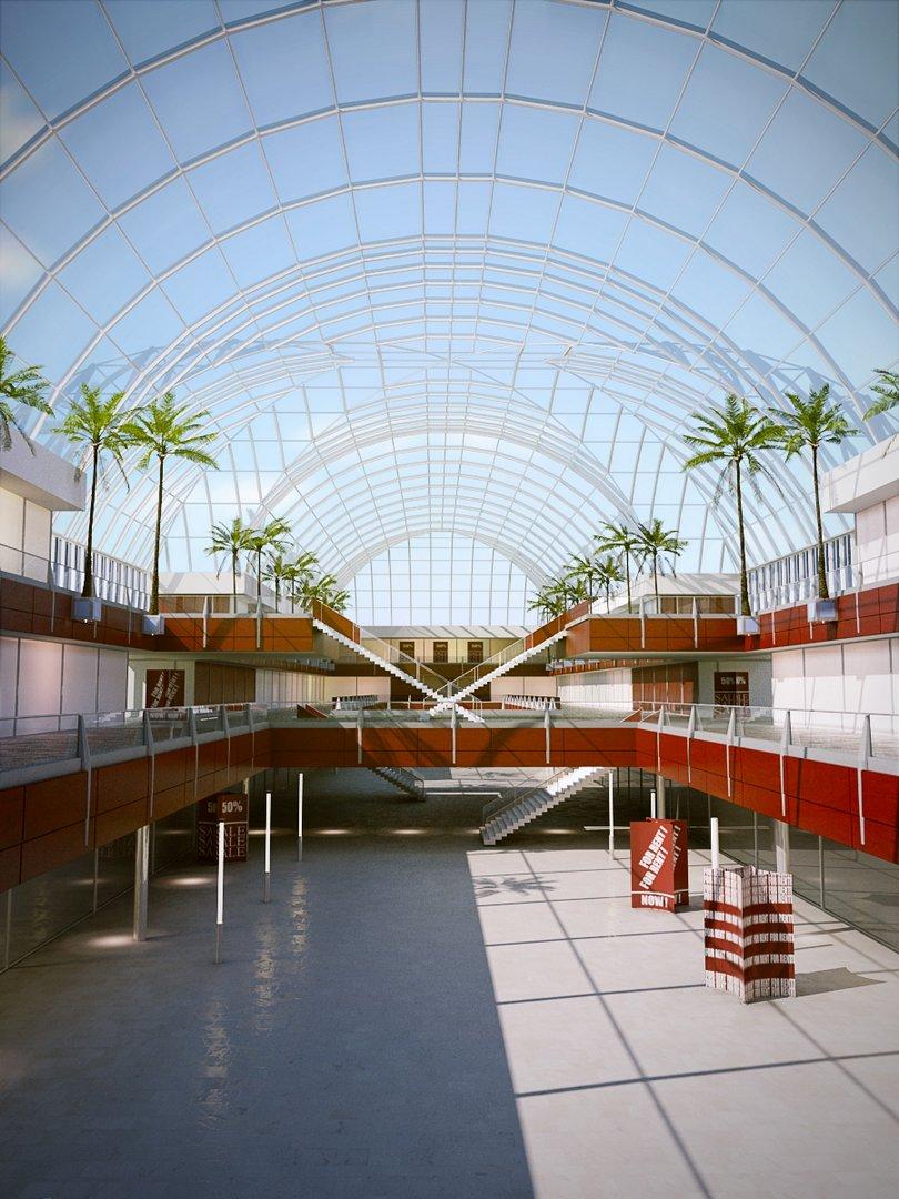 رندر مرکز خرید تجاری
