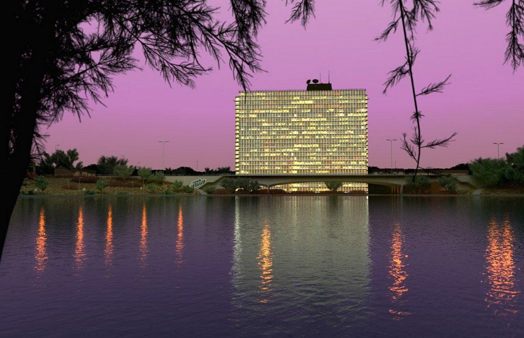رندر هتل دریاچه