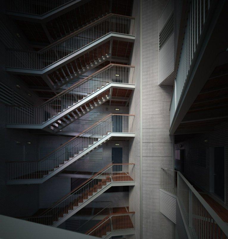 رندر ساختمان مسکونی