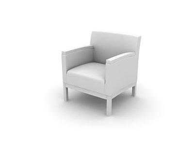 مدل صندلی راحتی سه بعدی