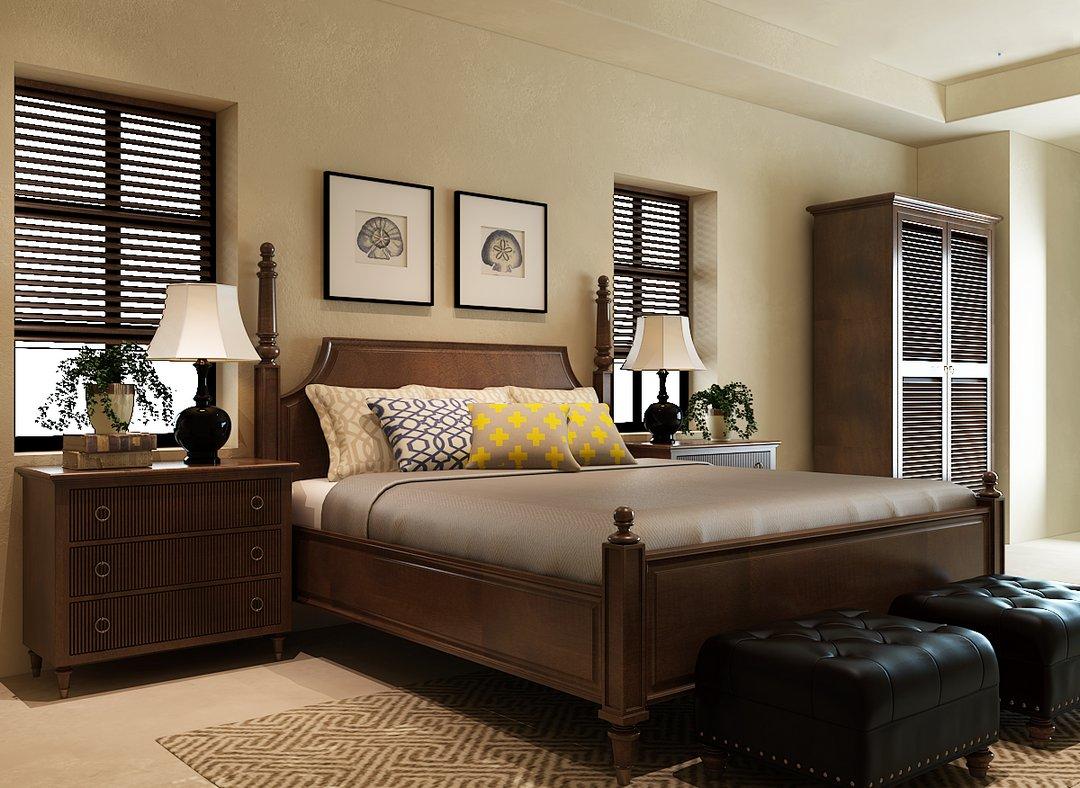 دانلود رندر اتاق خواب کلاسیک