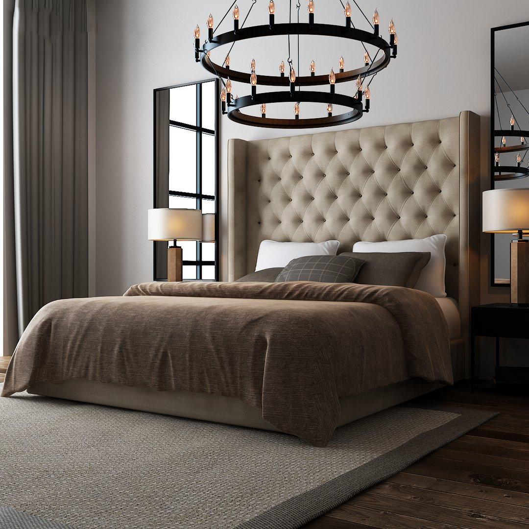 دانلود رندر اتاق خواب مدرن