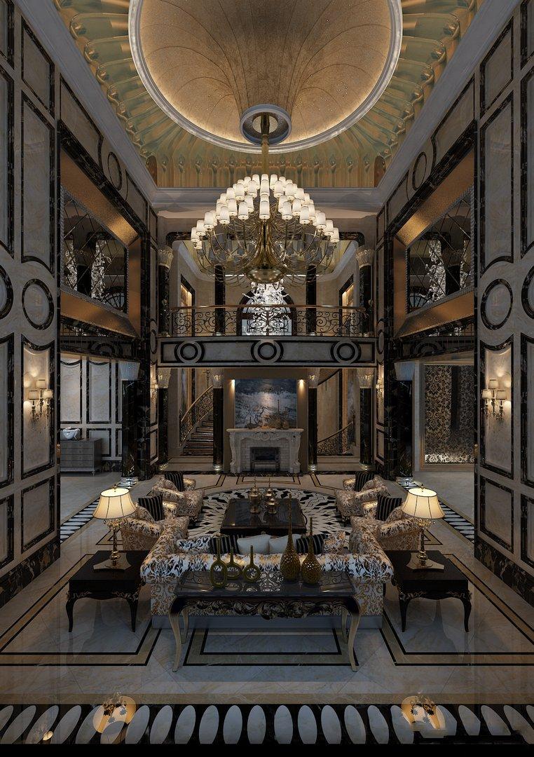 دانلود رندر لابی هتل کلاسیک