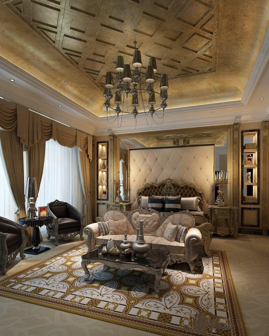 دانلود رندر اتاق هتل کلاسیک