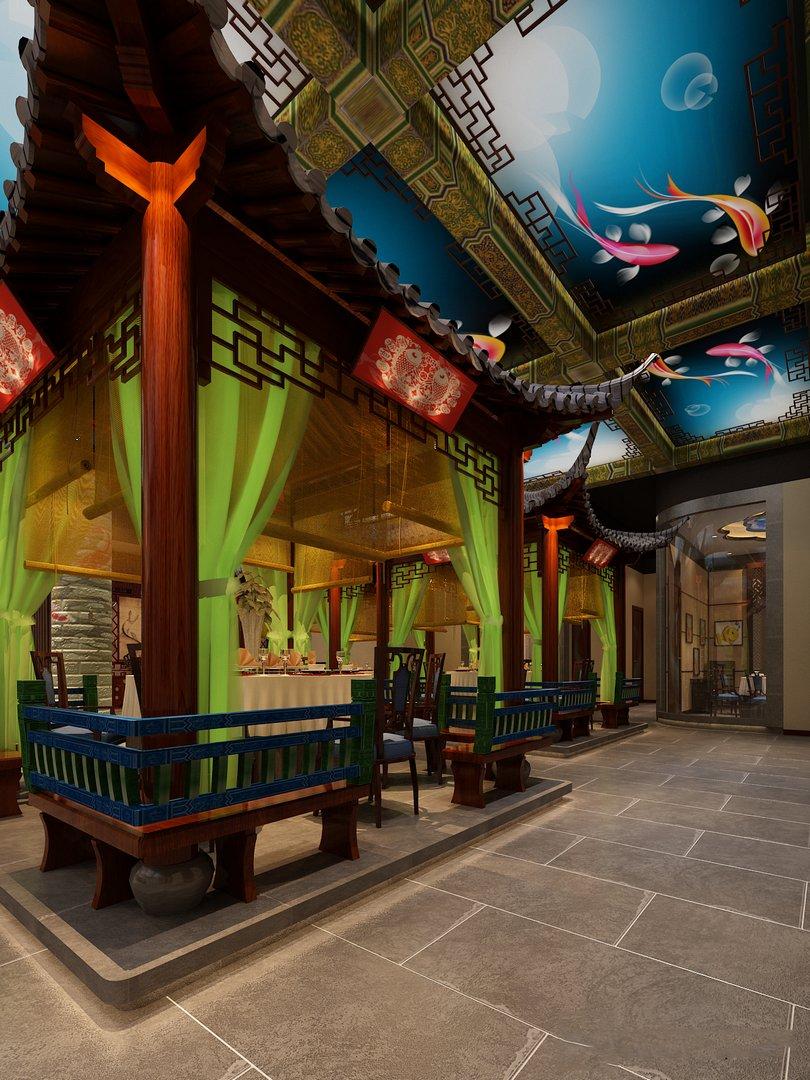 دانلود رندر رستوران چینی
