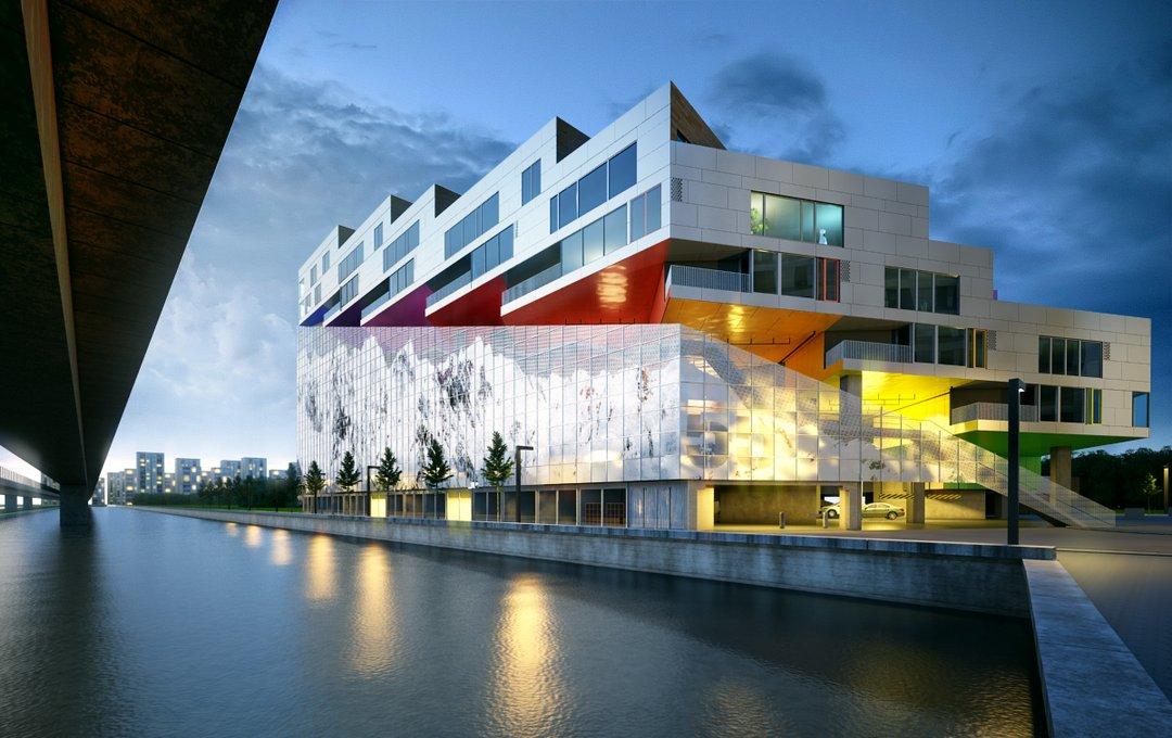 دانلود رندر ساختمان تجاری اداری