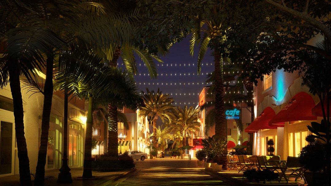 رندر شب خیابان الجزایر
