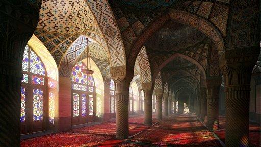 دانلود رندر مسجد شبستان معماری اسلامی شرقی عربی اورینتال مدل آماده رندر تری دی مکس وی ری