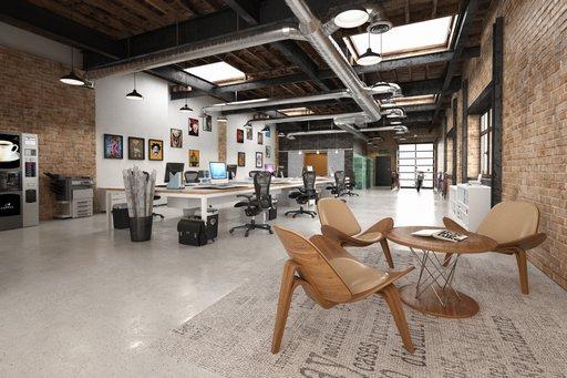 دانلود رندر آتلیه طراحی آفیس طراحی دفترکار طراحی میز طراحی مدرن مدل آماده رندر تری دی مکس وی ری
