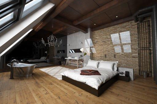 دانلود رندر اتاق خواب ویلا هتل مدرن کف پارکت دستشویی تختخواب مدل آماده رندر تری دی مکس وی ری