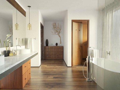 دانلود رندر روشویی حمام دستشویی مدرن وان مدل آماده رندر تری دی مکس وی ری