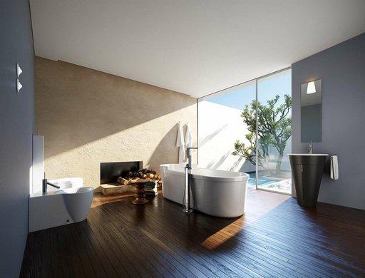 دانلود رندر حمام روشویی دستشویی مدرن شومینه مدل آماده رندر تری دی مکس وی ری