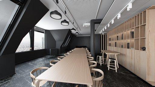 دانلود رندر میز چوبی رستوران آفیس کتابخانه میز جلسه مدل آماده رندر تری دی مکس وی ری