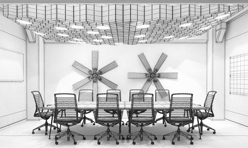 دانلود رندر آفیس اتاق جلسه مدرن مینیمال دکوراسیون مینیمال مدل آماده رندر تری دی مکس وی ری