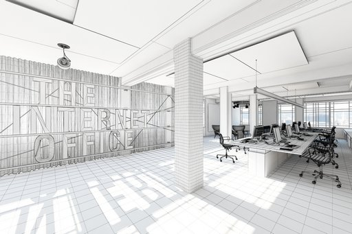 دانلود رندر آفیس طراحی دکوراسیون مدرن مینیمال کف موکت میز طراحی چوب مدل آماده رندر تری دی مکس وی ری