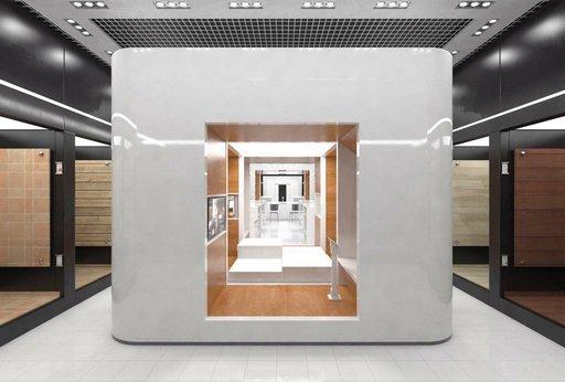 دانلود رندر نمایشگاه شوروم گالری مدل آماده رندر تری دی مکس وی ری