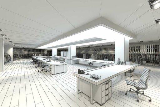 دانلود رندر فروشگاه مدرن لباس فروشی مدل آماده رندر تری دی مکس وی ری