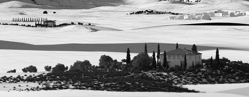 دانلود رندر ویلا نما منظره جنگل ابر ویلا دوبلکس مدل آماده رندر تری دی مکس وی ری