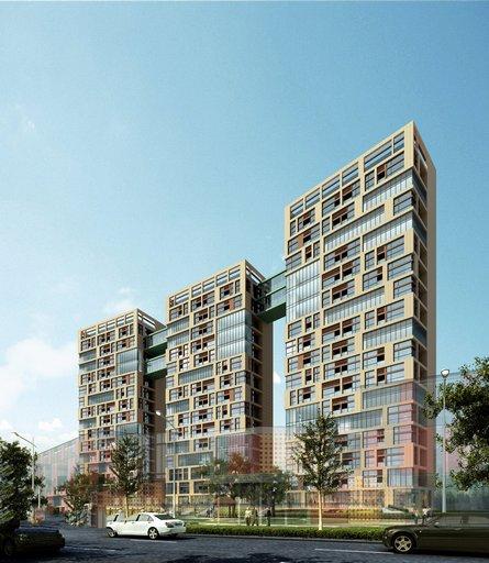 دانلود رندر مجتمع مسکونی سه قولو برج مدل آماده رندر