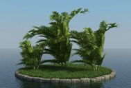مدل درخت استوایی نخل