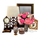 مدل وسایل دکوری تزئینی گلدان مجسمه قاب عکس آینه ساعت گل کلاسیک استیل مدرن