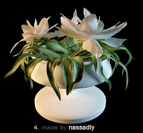 مدل گل گیاه گلدان