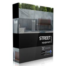 مدل وسایل خیابان صندلی سطل چراغ سنگ فرش