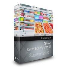 مدل سوپر مارکت قفسه نان یخچال تی شرت میوه سیب هلو گلابی پرتغال خیار گوجه سیب زمینی سبد خرید