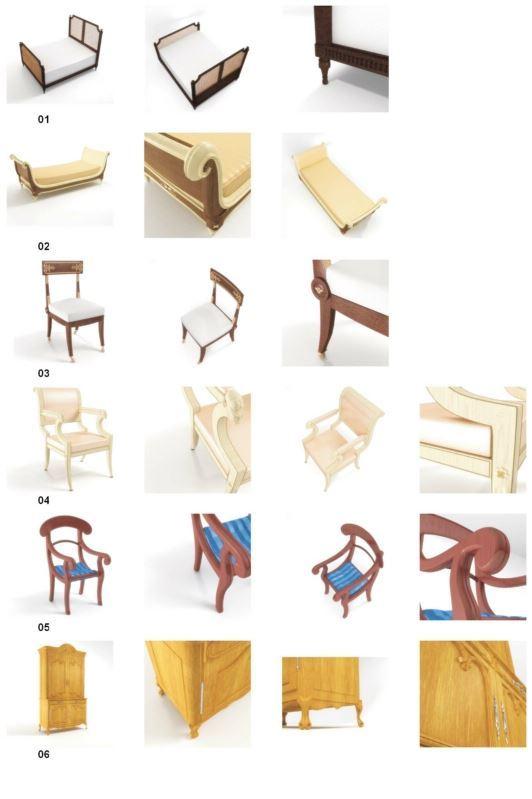 مدل مبلمان آنتیک استیل صندلی مبل راحتی دراور تخت کمد میز ساعت آینه میز شطرنج