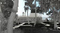 محیط صحنه آماده رندر خارجی شب روز ویلا چمنزار جنگل باغ تزئین باغچه بوته گل درخت کاج استخر روباز وسط شهر خیابان