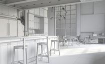 محیط صحنه آماده رندر داخلی اتاق کار اداری منزل کف چوب کتابخانه مدرن رستوران مدرن کافی شاپ اتاق نشیمن اتاق پذیرایی آشپزخانه لوکس