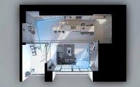 دانلود رندر ویلا خانه کامل اتاق نشیمن اتاق پذیرایی اتاق خواب آشپزخانه کف پارکت ویلا دوبلکس کتابخانه اتاق تلویزیون مبلمان پذیرایی دکوراسیون مینیمال مدرن آماده رندر