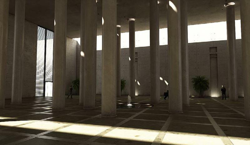 محیط صحنه آماده رندر داخلی تالار کلیسا اپرا حمام دستشویی اتاق انتظار پذیرایی نشیمن آشپزخانه