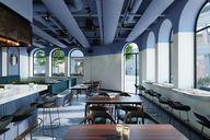 دانلود رندر رستوران کافی شاپ مدرن کافی شاپ رستوران کف پارکت نور پردازی کافی شاپ کوچک رستوران بزرگ