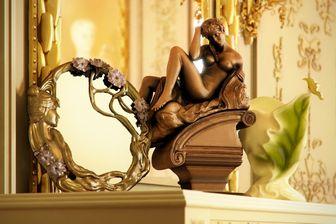 مدل وسایل تزئینی خانه ساعت کره زمین کوزه مجسمه شمع آباژور اریگامی