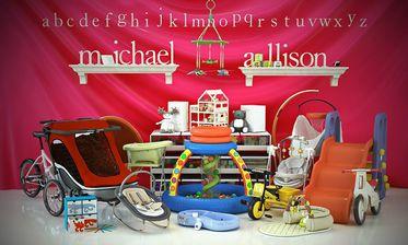مدل وسایل بچه کودک تخت عروسک کالسکه گهواره مدادرنگی دو سه چرخه