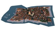 مدل شهر شهرسازی بزرگ حجیم