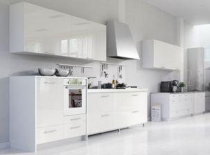 مدل دکوراسیون آشپزخانه جزیره هود کابینت گاز مایکروویو اپن