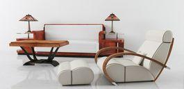 مدل وسایل استیل قدیمی دکوراسیون داخلی مبل آباژور میز ناهارخوری چوبی