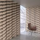مدل دیوار دکوراتیو سه بعدی صندلی لوکس فانتزی چوبی پلاستیکی آباژور میز پذیرایی