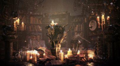 مدل فانتزی بازی جعبه چوبی شیپور ظرف شیشه ای آزمایش کتاب قدیمی کوزه کتابخانه قدیمی شمع ترازو گونی کره زمین گرز تبر الماس آینه شکسته قدیمی مجسمه
