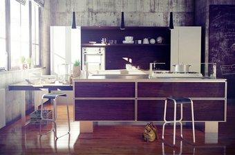 مدل سه بعدی آشپزخانه جزیره هود کابینت چوب سینک یخچال فریزر آشپزخانه کلاسیک مدرن