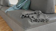 مدل سه بعدی وسایل منزل مبل ال چرم پارچه آباژور