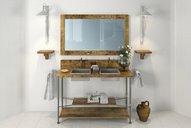 مدل سه بعدی دستشویی حمام آیینه حوله شامپو صابون کابینت ماشین لباسشویی وان کابینت دستشویی بیده