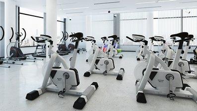 مدل سه بعدی وسایل باشگاه بدن سازی تردمیل الیپتیکال دوچرخه وزنه
