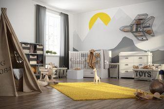 مدل سه بعدی اتاق بچه وسایل تزئین سیسمونی گهواره اسباب بازی