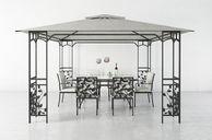 مدل سه بعدی پاسیو تجهیزات تزئینی میز صندلی حصیری چوبی کلاسیک مدرن چتر مبل راحتی