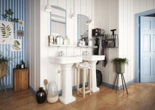 مدل سه بعدی وسایل حمام دستشویی حوله مایع دستشویی دستمال کاغذی برس مسواک سشوار گل کاغذی سطل زباله
