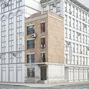 مدل سه بعدی ساختمان شهری نیویورک ساختمان آجری ساختمان قدیمی