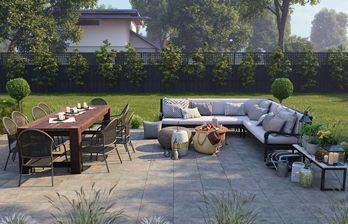 مدل سه بعدی دکوراسیون وسایل پارک باغ فضای سبز میز چوبی مبل چوبی تاب صندلی حصیری قالی قالیچه شومینه